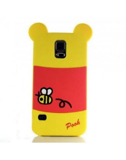 "Carcasa protectie spate ""Winnie"" din silicon pentru Samsung Galaxy S5"